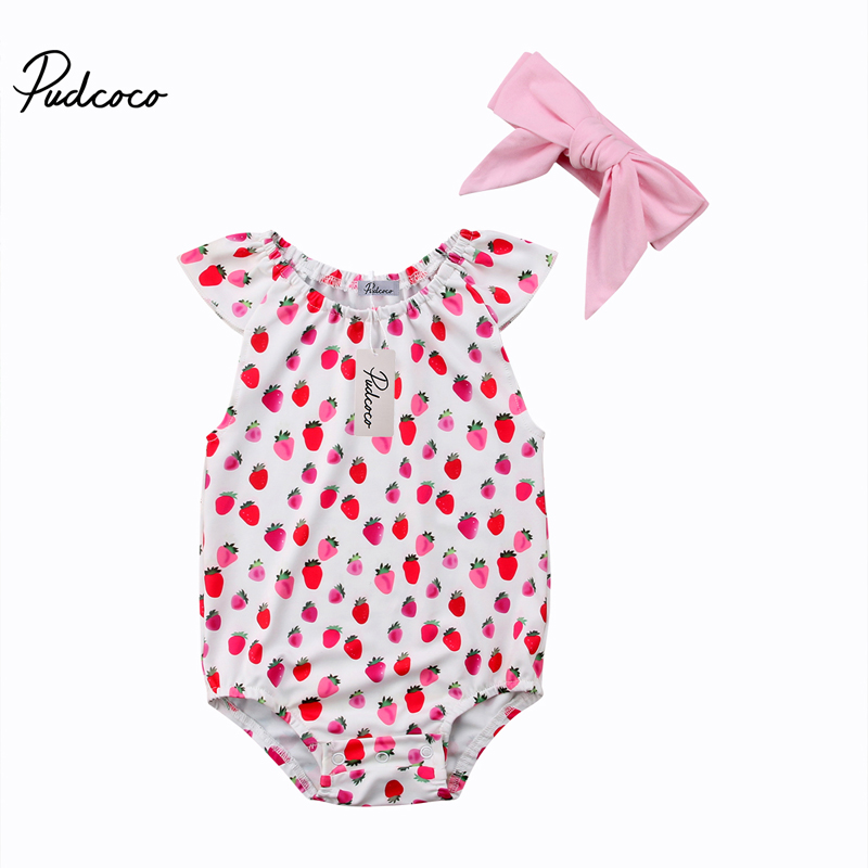 Pudcoco New Fashion Lovely Newborn Infant Baby Girl Romper Floral Sunsuit Summer Clothes Outfits