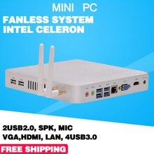 Mini pc windows compute Tv Box Windows Коди OpenELEC 1080 P petit HTPC Intel Celeron 1037U 1.8 ГГц HDMI + VGA двойной affichage