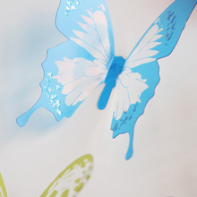 18pcs/lot 3d crystal Butterfly Wall Sticker