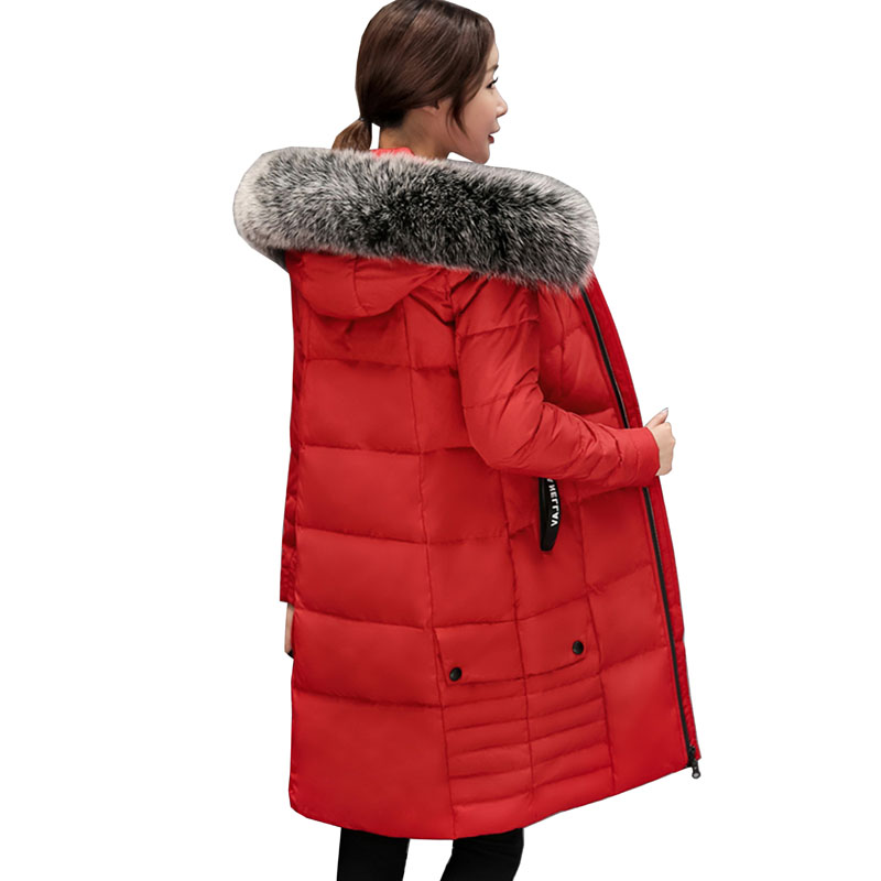 high quality New Female Warm Winter Jacket Women Coat Thick Down Cotton   Parka   Ultra-light Cotton-padded Jacket Long Outwear 5L47