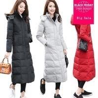 High Quality Eiderdown Cotton Jacket Women's Winter Coat 2018 New Add Long Plus Size Slim Outerwear Fashion Girls Parkas d358