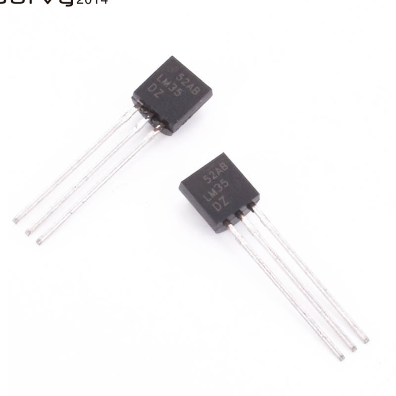 10 PCS Brand new LM35DZ TO-92 <font><b>LM35</b></font> Precision Centigrade Temperature Sensor For IC Low Impedance New Electric Unit image