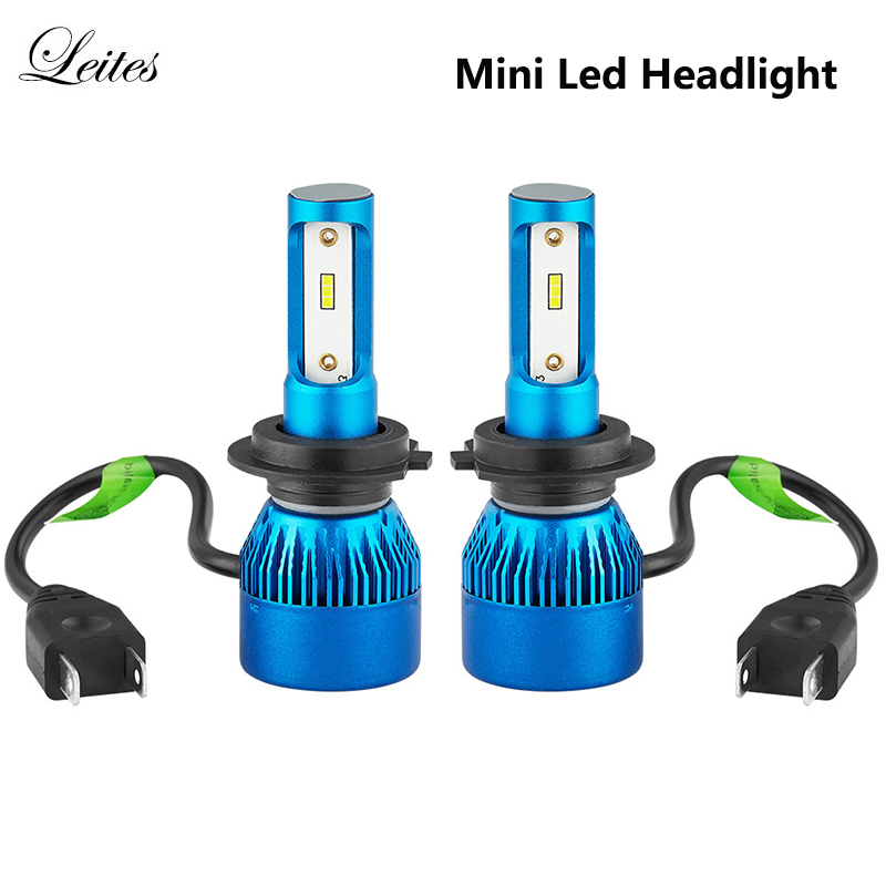 10pairs LED H7 Mini Car Headlight H4 LED H11 H1 9005 HB3 9006 HB4 H4 High