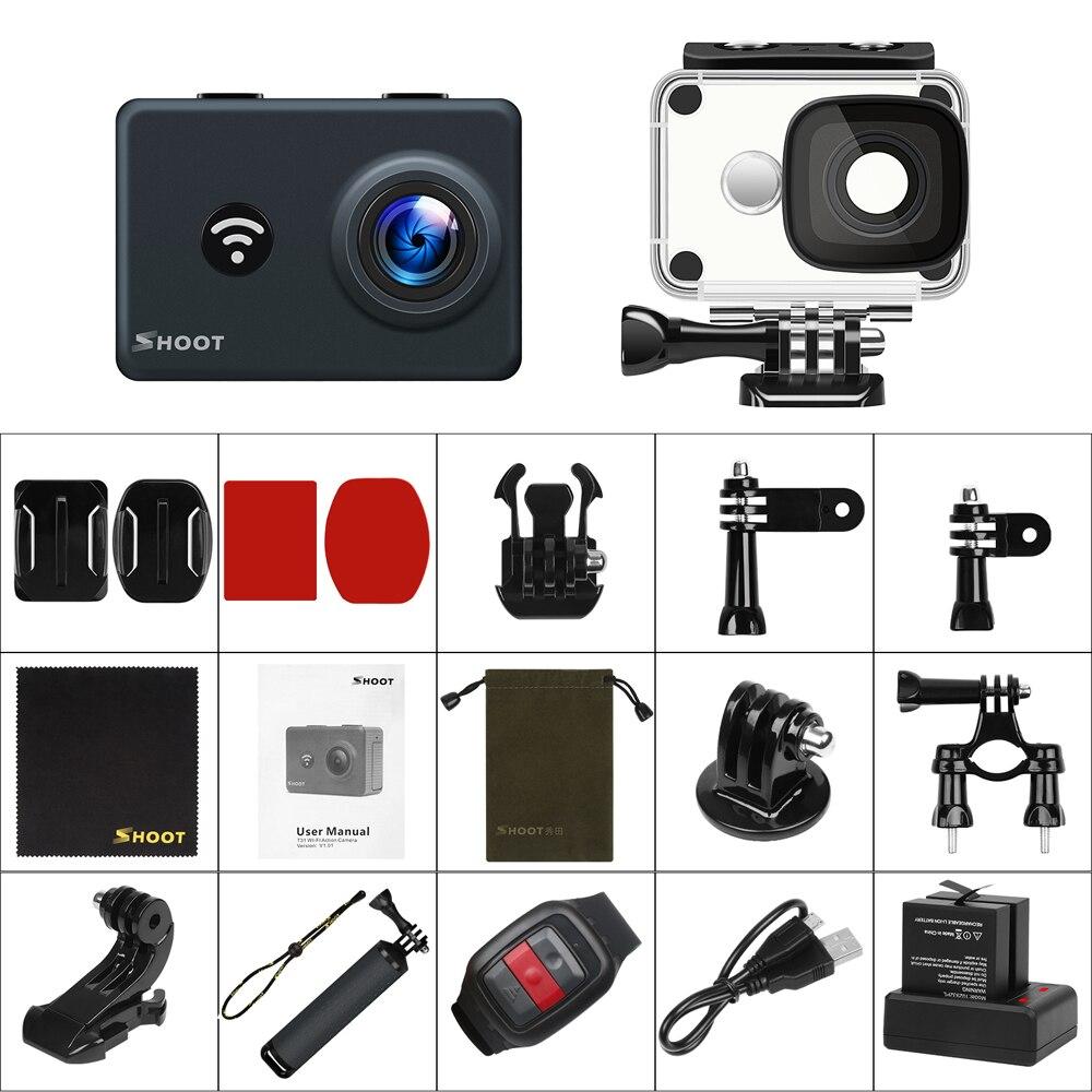 Caméra d'action étanche WiFi 4 K SHOOT T31 1080 P/60FPS caméra Ultra HD avec objectif grand Angle de 170 degrés pour Go Pro Hero 7 5 6 Yi h9 - 6
