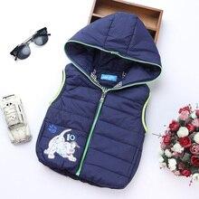 Mode Automne Garçon Gilet Enfants Vêtements Manteau À Capuchon Occasionnel Bébé Manteaux Caractère Chaud Gilets Pour Garçons Vêtements Pour Enfants Vêtements