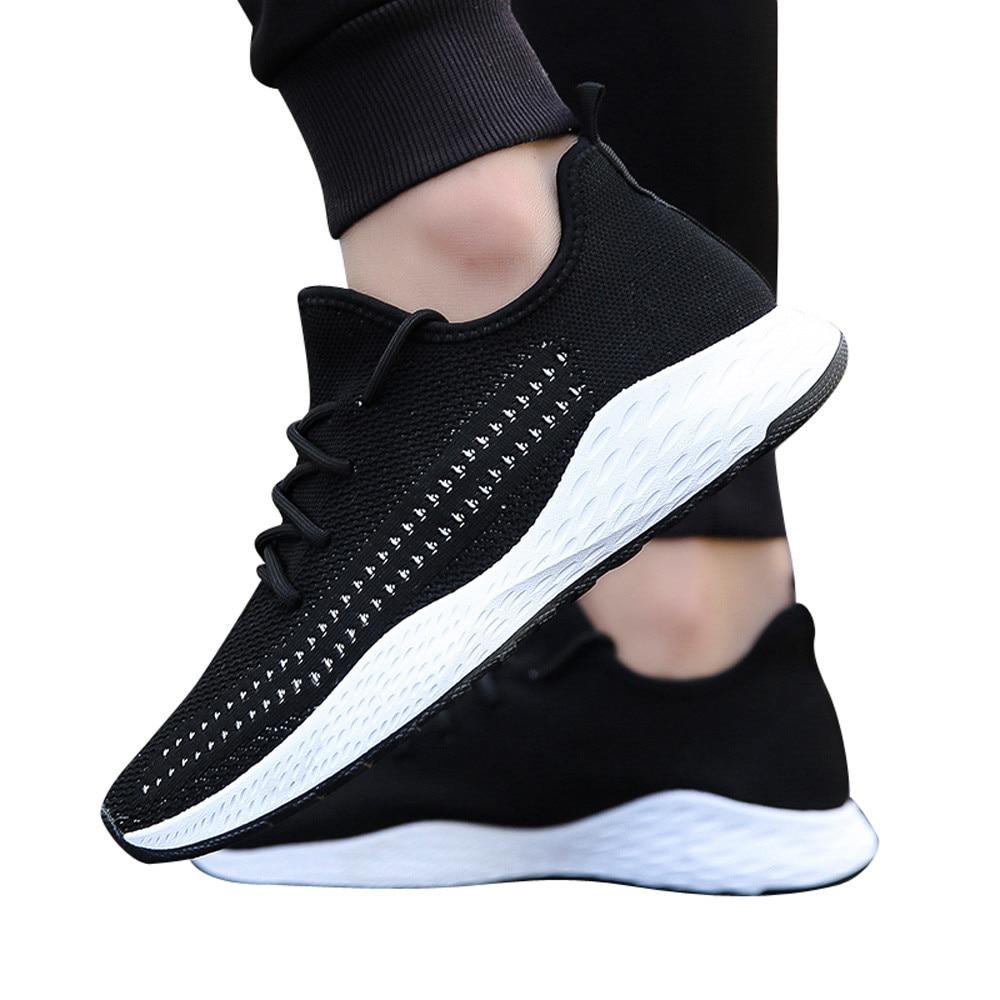 white Black Nueva Malla Los Punta Casuales De Llegada Pria Moda red 2018 Gimnasia Zapatos Sólida Plano Sepatu Redonda Talón Hombres qCHnT5wxF