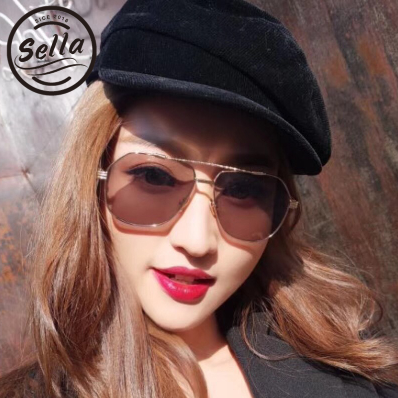 b87daddd4b9 Sella Retro Fashion Women Men Candy Color Tint Lens Alloy Frame Sunglasses  Trending Ladies Pink Yellow Clear Lens Glasses Wear-in Sunglasses from  Apparel ...