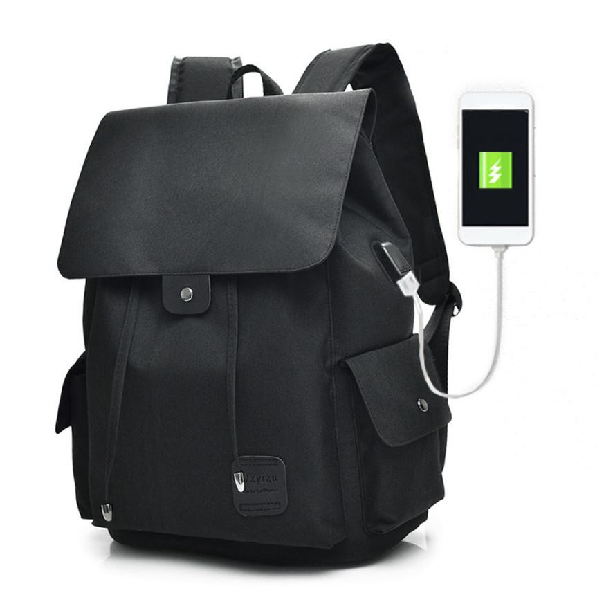 USB Charging Backpack Power Bank Backpack Travel Student Backpacks Bag Boy Laptop Backpacks Canvas Rucksack Soft Daypack Bag#23