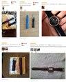Nueva Correa de Reloj de Alta Calidad venda De Reloj 12mm 16mm 18mm 20mm 22mm Correa de cuero Genuino accesorios de Moda banda de múltiples Colores