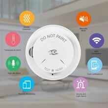 Detector de humo inteligente con Wifi para el hogar, alarma de incendio inalámbrico con sistema de seguridad, Control por aplicación Smart Life, Tuya