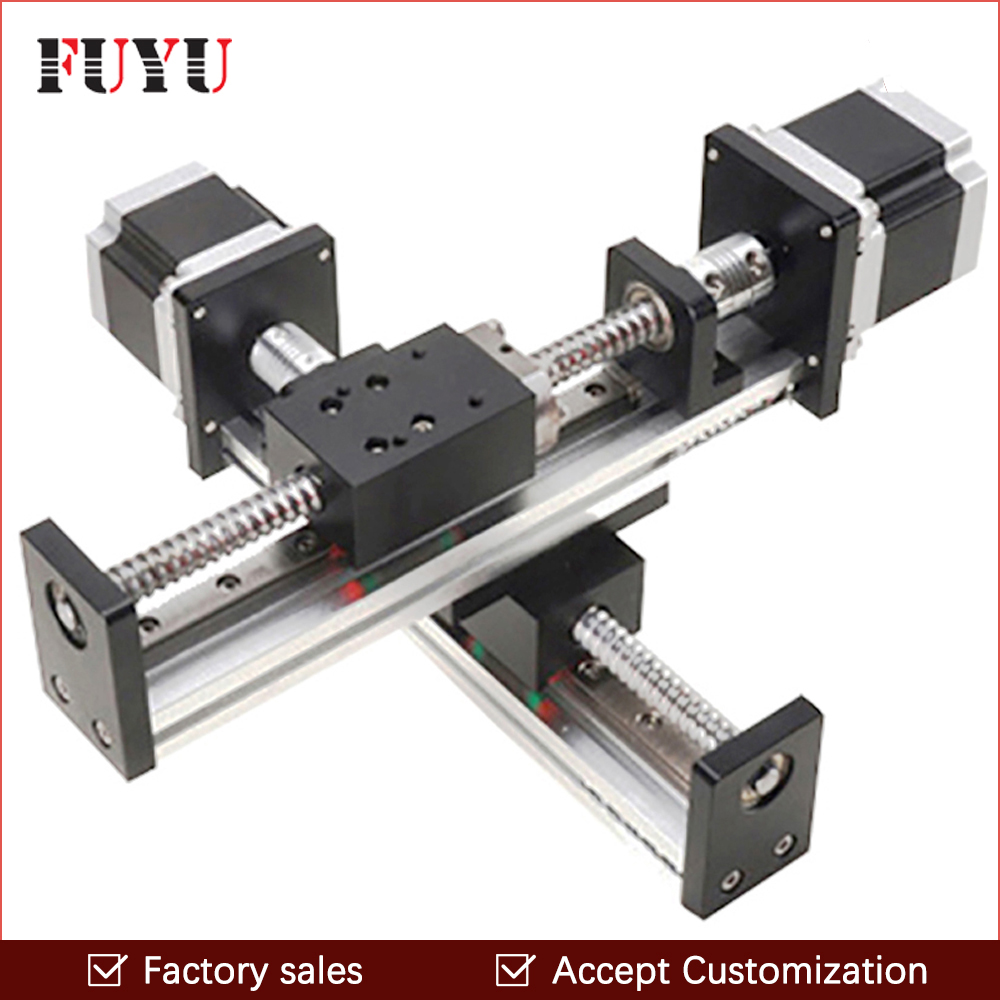 FLS40 Robotic arm rod ball screw linear rail guide slide table actuator for cnc XY motion module parts motorized router kits belt driven long travel linear slide linear motion ball slide unit guide linear actuator for massage chair