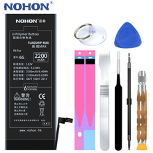 NOHON Phone Battery For iPhone 6 6S Plus 6Plus 6SPlus 7 iPhone6 High Capacity Replacement Lithium Polymer Bateria + Free Tools cheap EMC MSDS NEMKO KC RoHS CE WEEE PCT FCC For Apple iPhone 6 6S 6Plus 6S Plus 7 Battery Compatible 2201mAh-2800mAh Apple iPhones