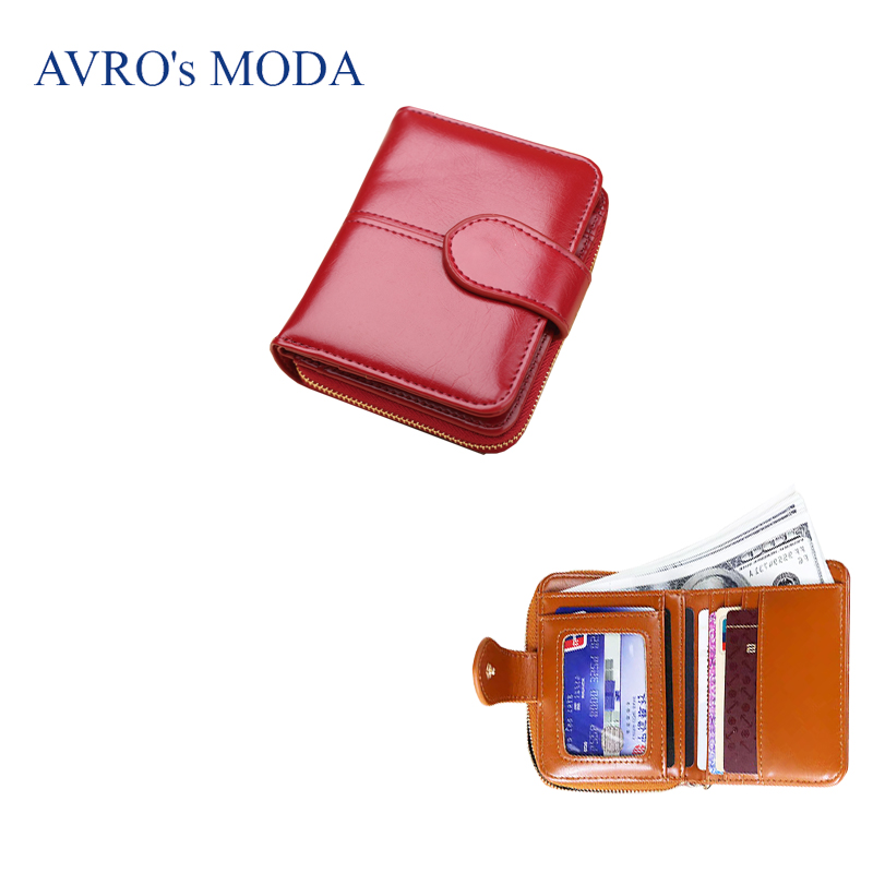 AVRO 39 s MODA Brand PU leather small wallet for women 2019 ladies hot sale short zipper purse money bags coin phone pocket clutch in Wallets from Luggage amp Bags
