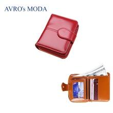 AVROs MODA Brand PU leather small wallet for women 2019 ladies hot sale short zipper purse money bags coin phone pocket clutch