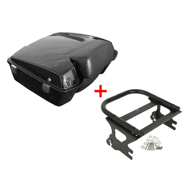 Trustful Motorcycle Chopped Tour Pak Pack Trunk Two Up Mounting Rack For Harley Tour Cvo Street Road King Electra Glide Flhr Flhx Fltrx Easy To Use Top Cases Bags & Luggage