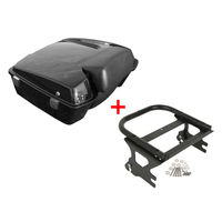 Motorcycle Chopped Tour Pak Pack Trunk Backrest & Mount Rack For Harley Touring Road King Electra Street Glide FLHT FLHX 1997 08