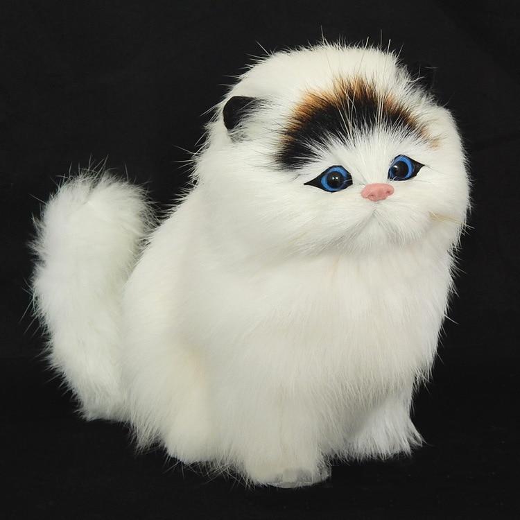 Echt haar Elektronische Haustiere Katzen Puppen Simulation tier katze spielzeug mauzi kinder nette pet plüsch spielzeug modell ornamente Xtmas geschenk