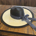 Summer Straw Beach Hats For Women Wide Brim Sun Floppy Hats Female Free Shipping SDDS-022