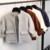 Outono Coreano 2016 Mulheres Cardigan Blusas Curtas Bolso Solto Malha Branca Profunda Café Azul Menina Da Forma Das Senhoras Casacos Malhas