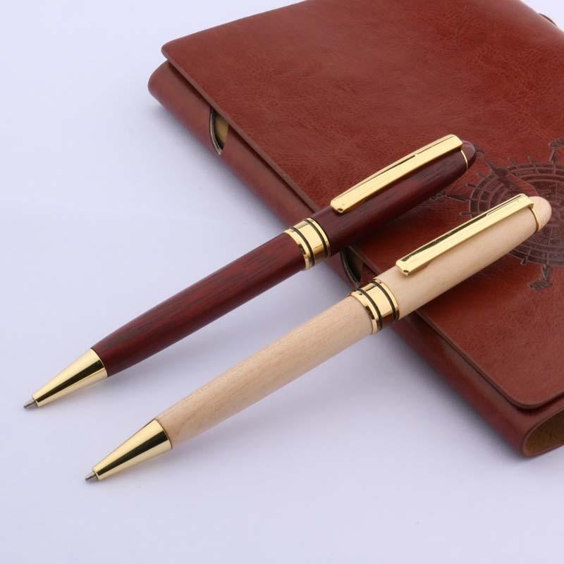 Hot Sale NEW Golden Red WHITE GIFT Wooden Ballpoint  Pen