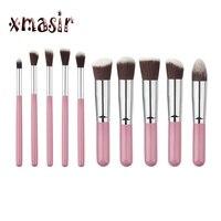 10pcs Set Mini Pincel Professional Make Up Brush Kit Beauty Makeup Tools Set Powder Foundation Cosmetic