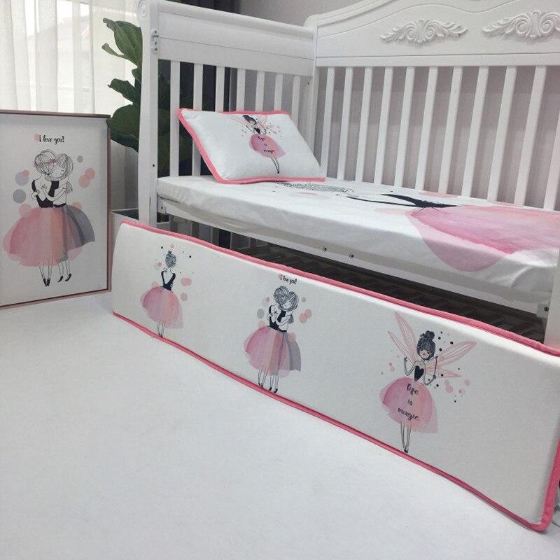 4 шт. Комплект постельного белья бампер фланелевый мультфильм шаблон одеяло для новорожденных крышка простыня наволочка детская кроватка бампер Детский Комплект постельного белья - 6