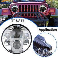 LED Headlight 80W 7 Headlight Projector Round High/Low Beam for jeep Wrangler Rubicon CT TJ JK FJ Led Headlamp