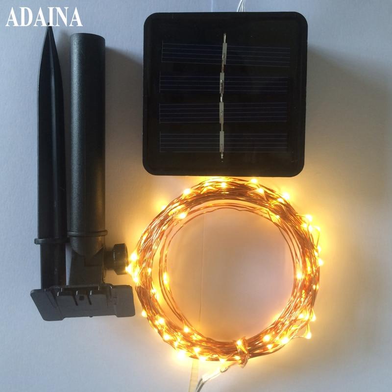 Puutarha Led Solar Copper Wire String Light 10M 100 LED ulkona vedenpitävä keiju patio lamppu häät joulujuhlat sisustus