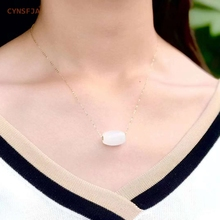 цена CYNSFJA Real Rare Certified Natural Chinese Hetian White Inlaid 18K Gold Lulutong Jade Pendant With 18K Gold Necklace Amulet High Quality Fine Jewelry Best Gifts онлайн в 2017 году