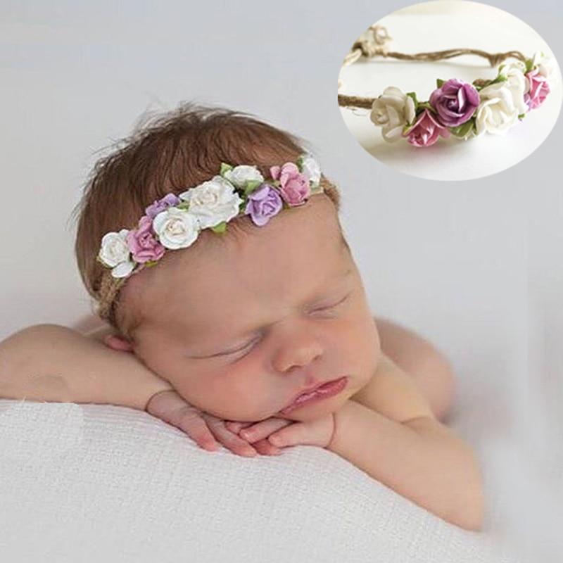 Newborn Baby Girls Toddler Kids Flower Hair Band Party Headband Prop Photo