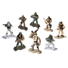 цена 8Pcs Military Swat Team Guns Weapon Pack Building Blocks City Police Soldiers Figure WW2 LegoINGlys Army Builder Series Toys