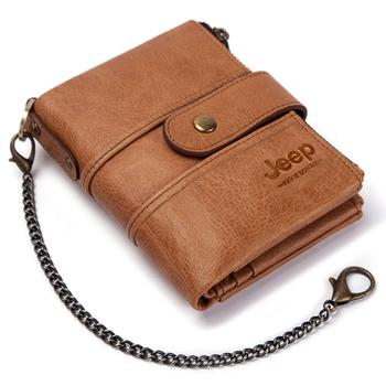 100% Genuine Leather Rfid Wallet Men Crazy Horse Wallets Coin Purse Short Male Money Bag Mini Walet High Quality Boys 18