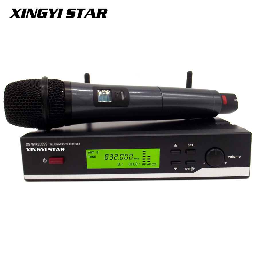 Free Shipping  2.4G True Diversity Receiver XSW35 Professional UHF Wireless Microphone System Vocal Set XSW 35 Cordless Mic Mike  top quality professional true diversity single handheld wireless mic microfone uhf wireless microphone system perfect for stage