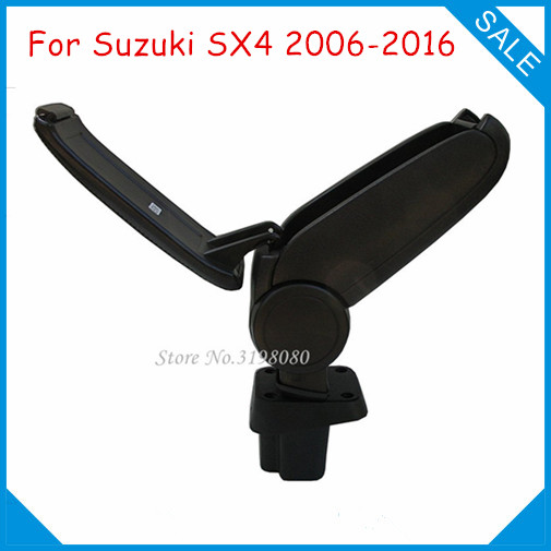 Free Shipping FOR SUZUKI SX4 2006-2016 Car ARMREST,Car Interior Accessories Parts Center Armrest Console Box Arm Rest Auto Parts universal leather car armrest central store content storage box with cup holder center console armrests free shipping