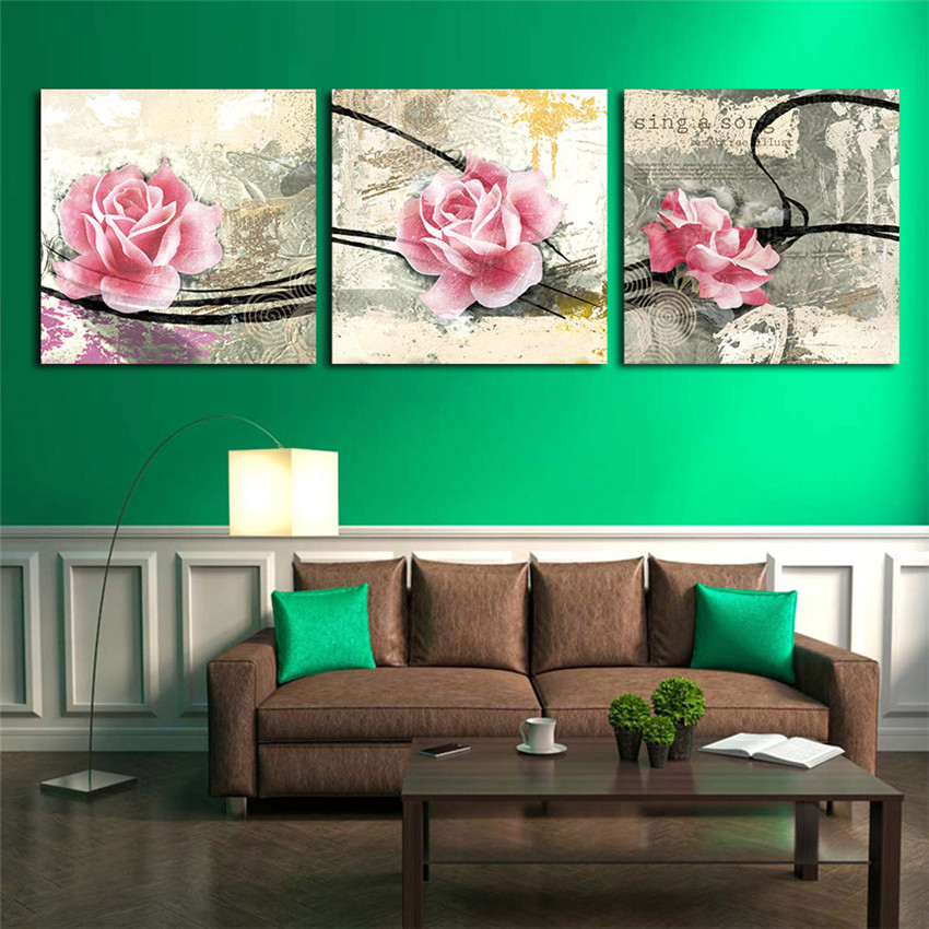 Ween rose wandbilder leinwand und eingerahmt modul malerei bereit zu ...
