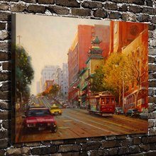 A1094 Fall Taxi Pagoda Evening Sunset Landscape. HD Canvas Print Home  decoration Art painting Living Room Bedroom Wall pictures 61ee5a17db5f