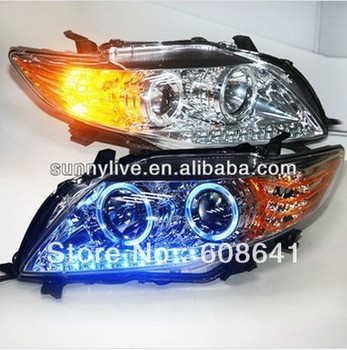 08-10 year Corolla Altis LED Head Light Chrome housing Blue Light PWV4