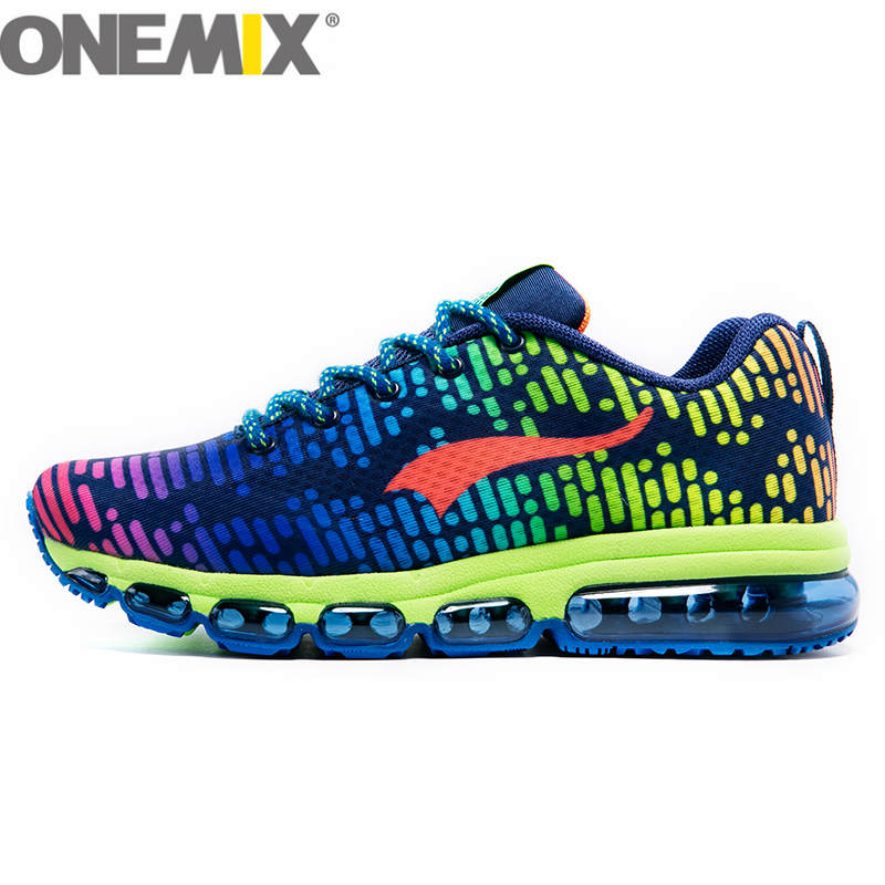 New onemix Mens Sports Running Shoes Music Rhythm 2 Lady Walking Sneaker Breathable Mesh Outdoor Women Athletic Shoe Size 36-46