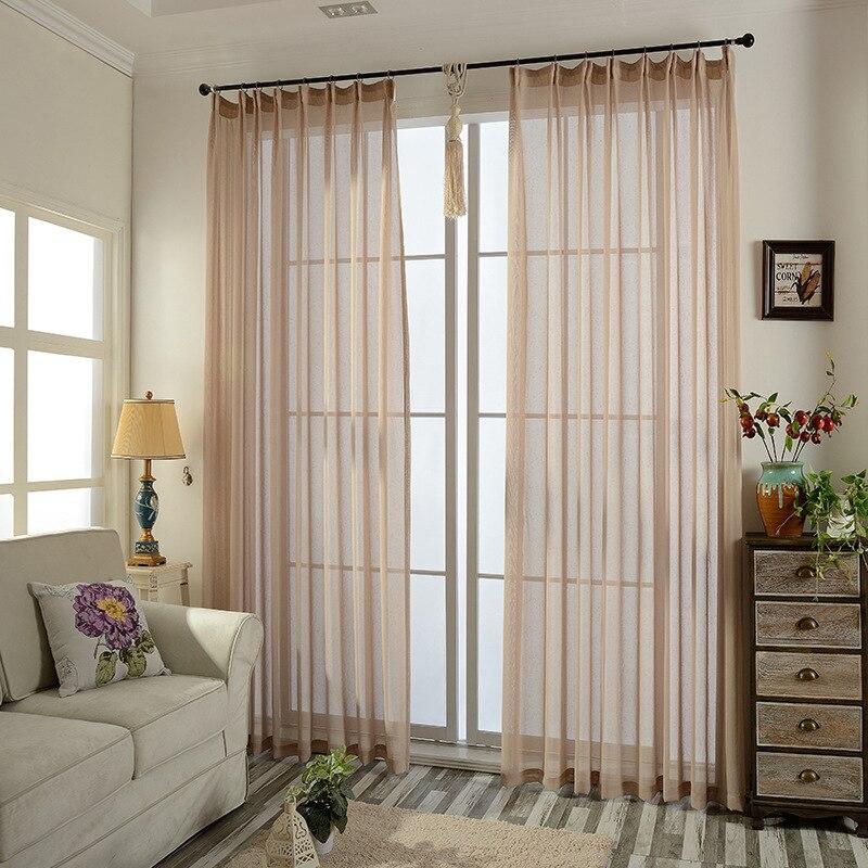 € 6.72 20% de réduction Rideaux blancs Tulle massif rideaux modernes pour  salon Transparent vert Tulle rideaux fenêtre transparente pour la chambre  ...