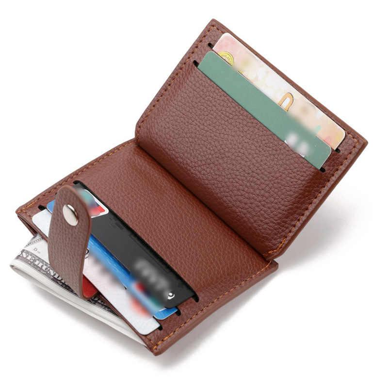 dc58fb38ac82 ... 2018 Slim Leather Wallets Men Magic Wallets Designer Small Purse Rfid  Card Holder Mini Holders Carteira ...