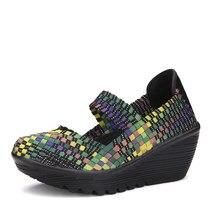 GOXPACER Sapatos Da Moda Buracos PU Sandálias Das Mulheres Cunhas Femininos  Sapatos Casuais Respirável ClosedToe Atacado 36c7cc7277af