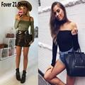 Nueva Llegada de la Venta Caliente Mujeres Atractivas de La Manera Del Hombro Bodycon Buzos Clubwear Mamelucos Envío Libre Al Por Mayor