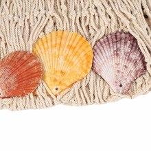 Creative Decorative Nautical Fishing Net Seaside Wall Beach Party Sea Shell Home Decor Vintage Decorations Kids Room Decoration