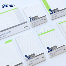 Simple Self Adhesive Planner Memo Pad Kraft Paper Sticky Notes Student Notepad Cute Bookmark School Office Stationery GM05-0065