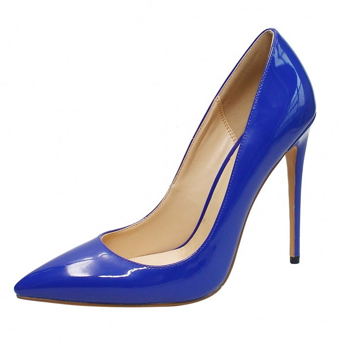 Dropshopping Basic Patent Leather Office Lady Shoes Women Pointed Toe Super High Heel Handmade Wedding Pumps Shoes D001B in Women 39 s Pumps from Shoes