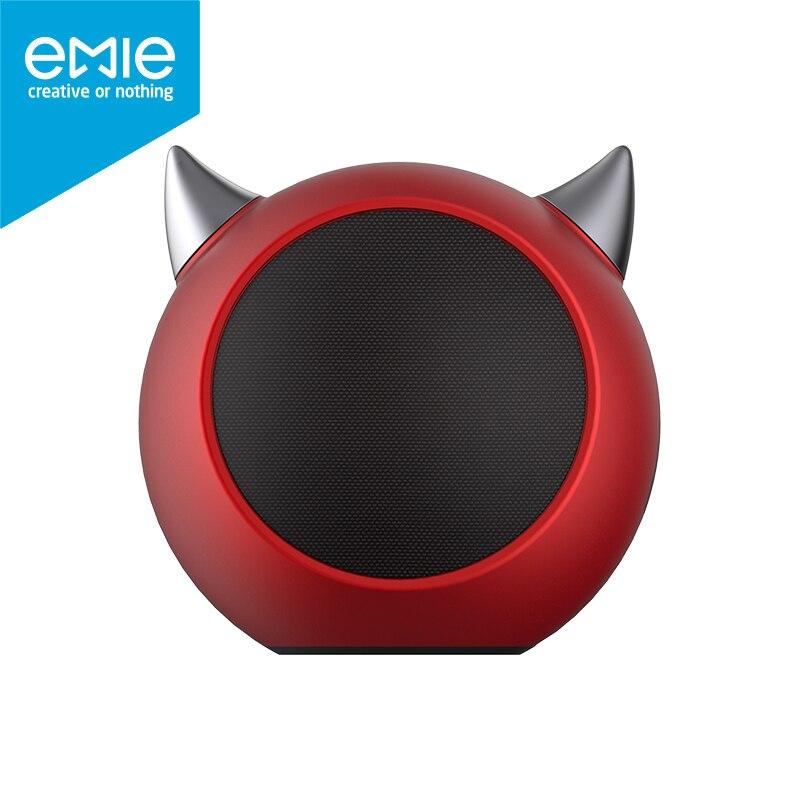 Emie Bluetooth Динамик дьявол мини Портативный AUX Беспроводной мощный звук минималистский ретро подарок для наружного путешествия с телефона