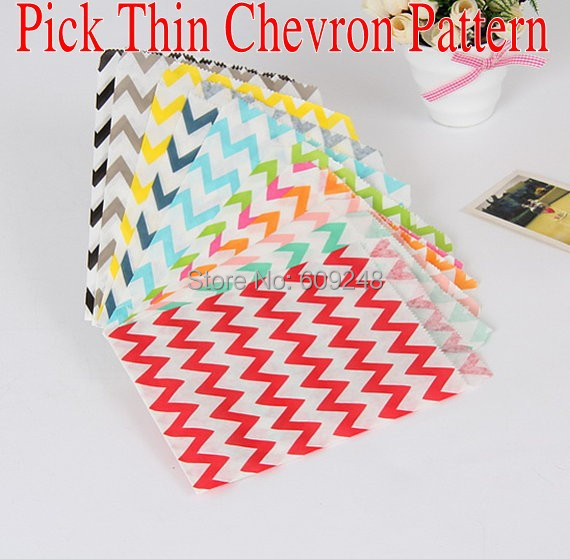 100pcs mixed colors aqua black blue red purple navy green orange yellow pink thin chevron party