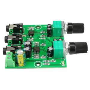 Image 3 - GHXAMP Two Way Stereo Audio Signal Mixer Board For One Way amplification Output Headset Amplifier audio DIY (2 Input 1 Output)