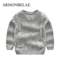 ARISONBELAE Merk Breien Effen kleur Vest Truien Nieuwe touw ontwerp Baby Kids Uitloper Hoge Kwaliteit Zachte Winter Warm slijtage