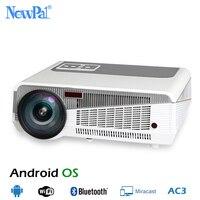 5500 люмен светодиодный проектор Full HD 3D Android проекторы 1080 P дома Театр Bluetooth WI FI AC3 проектор светодиодный 86